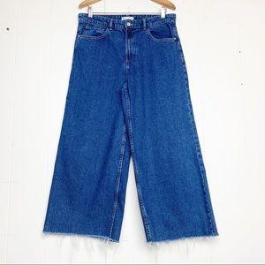 b0543fdc Zara Jeans | Trf Collection High Waisted Wide Leg Raw Edge | Poshmark
